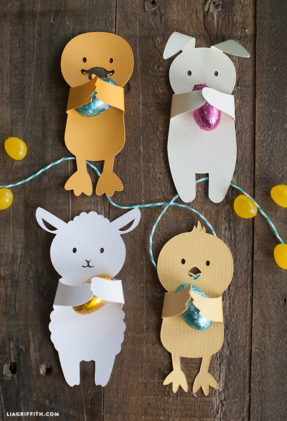 DIY Easter Candy Huggers from Lia Griffith