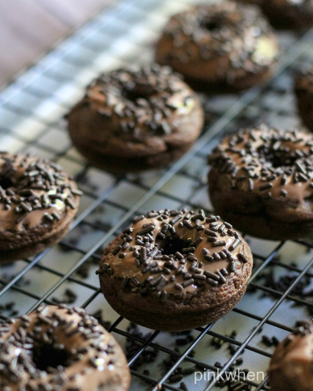 Death by Chocolate Triple Chocolate Donut Recipe from Pink When