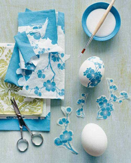Decoupage eggs from Martha Stewart Living