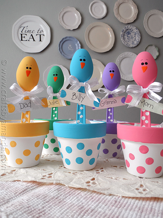 Easter Chick Place Holders from Crafts By Amanda
