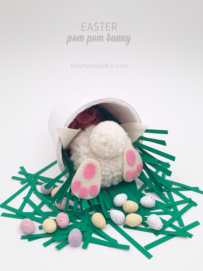 Easter Pom Pom Bunny From Molly Moo Crafts