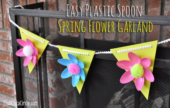 Easy Spring Flower Garland from Club Chica Circle