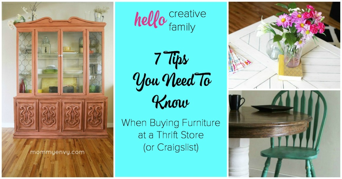 I'm dying to turn my home into one of those vintage furniture, thrift store treasure, DIY Pinterest homes but I'm clueless about what to look for at the antique store! This article was such a huge help. You need to read it before your next thrift store or craigslist purchase! I especially love tip 7.