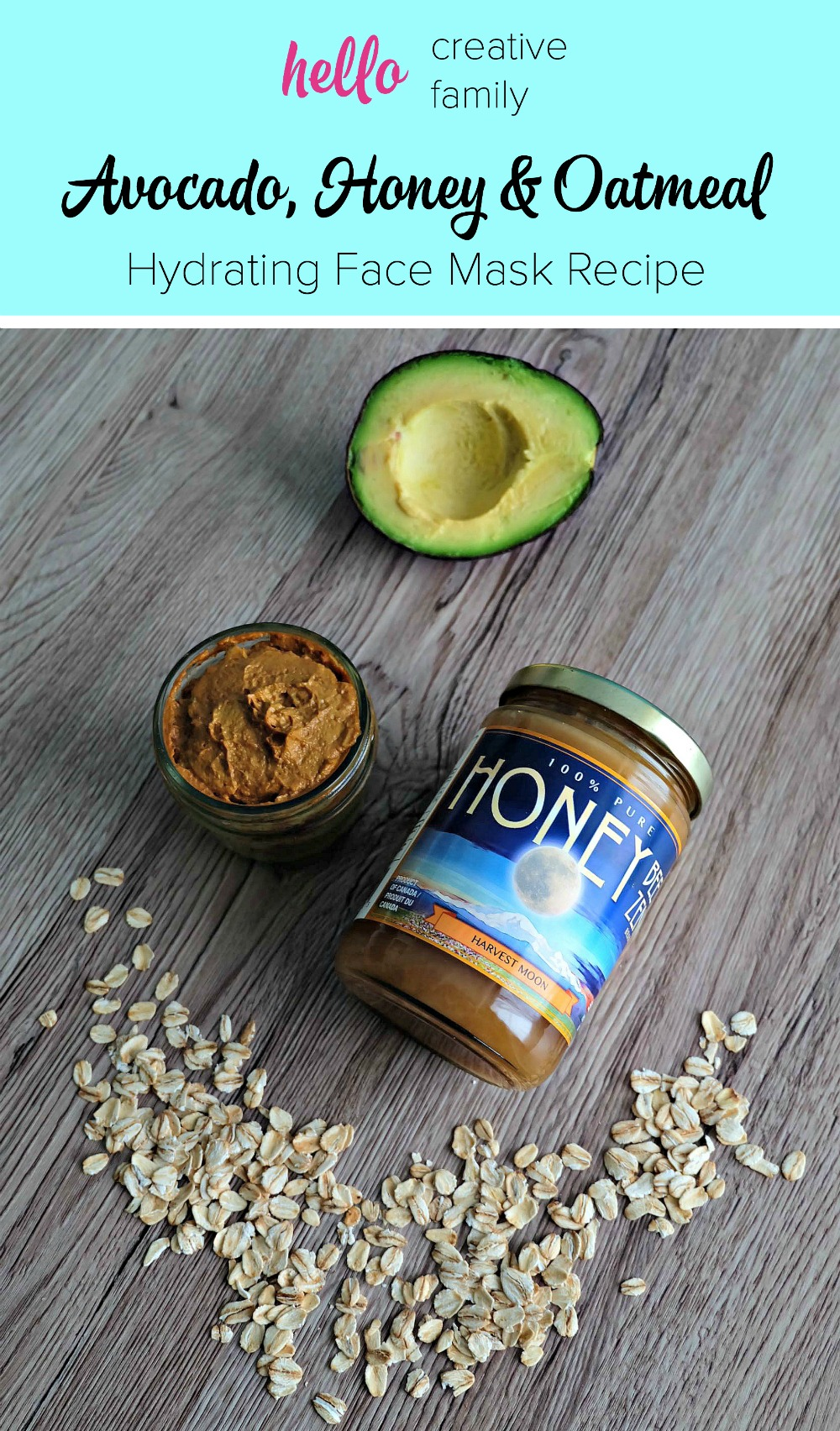 If your face is feeling dry, you won't want to miss this nourishing DIY Face Mask! Made with avocado, honey and oatmeal, this hydrating face mask recipe will have your skin glowing!
