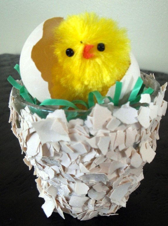 Just Hatched Easter Egg Votive from Mod Podge Rocks