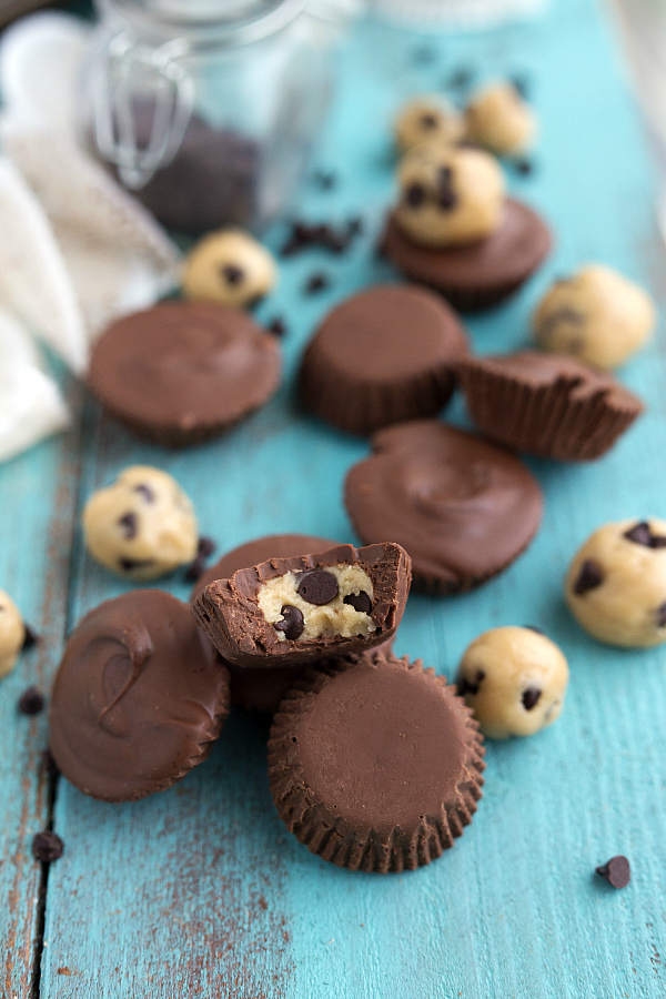 No Bake Cookie Dough Chocolate Cups Recipe from The Recipe Critic