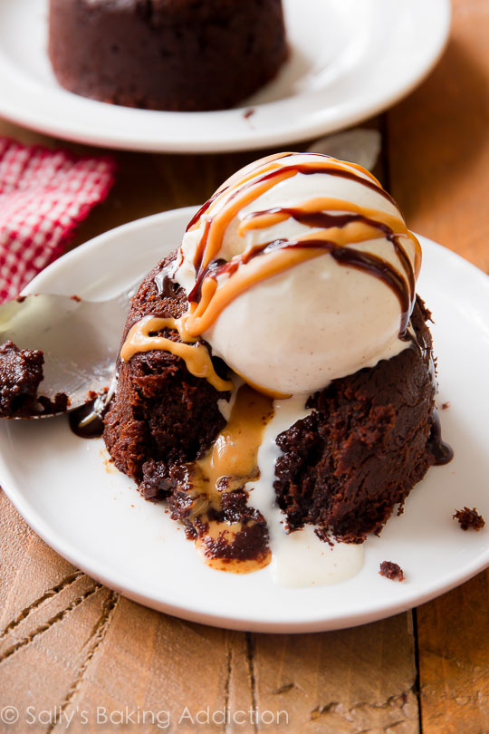 Peanut Butter Chocolate Lava Cake Recipe from Sally's Baking Addiction