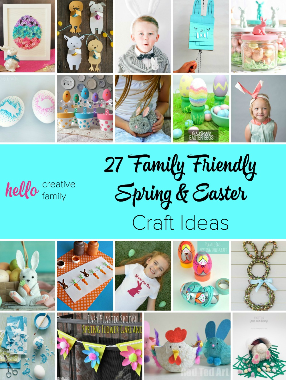 27 family friendly spring and easter craft ideas hello creative so many adorable spring and easter craft ideas here i love that they are family negle Choice Image