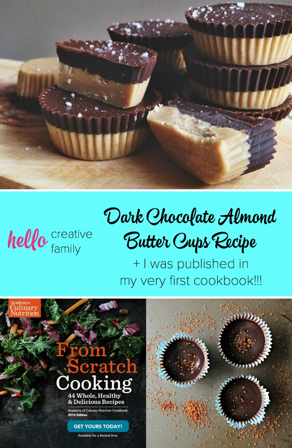 Every kitchen needs a delicious chocolate dessert recipe! This one is making me drool! Gluten free, dairy free and paleo friendly, this whole foods, healthy dessert idea is sure to be a hit! Dark chocolate almond butter cups recipe. PS. You could sub sunbutter or peanut butter!