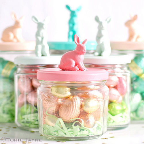 Plastic Toy Bunny Easter Jars from Torie Jayne
