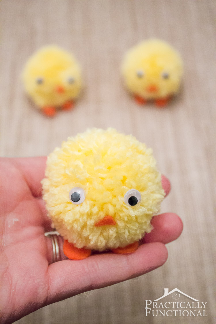Pom Pom Easter Chicks from Practically Functional