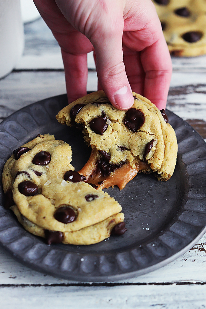 Salted Caramel Chocolate Chip Cookie from Creme de la Crumb