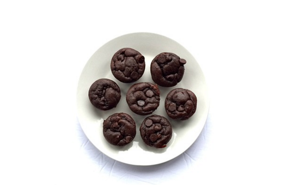 Double Chocolate Chip Muffins Recipe from The Write Balance