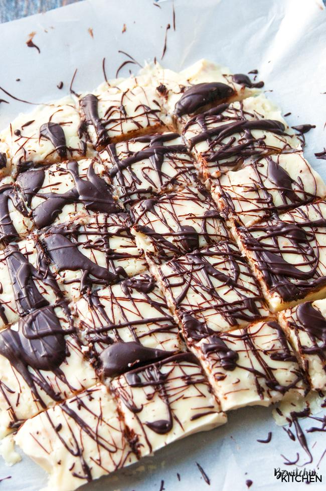 White Chocolate Skor Fudge from The Bewitchin Kitchen