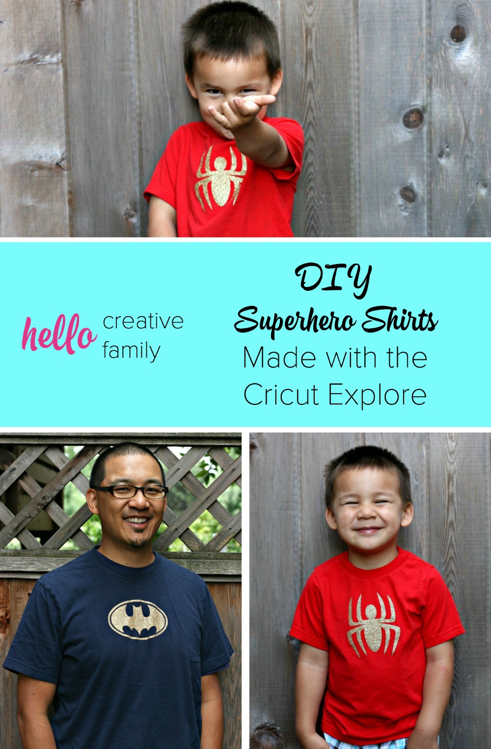 These would make such adorable birthday party favors for a boy or girl's superhero themed birthday party! Take any superhero emblem and make a DIY Superhero Shirt using the Cricut Explore. What a fun Cricut project!