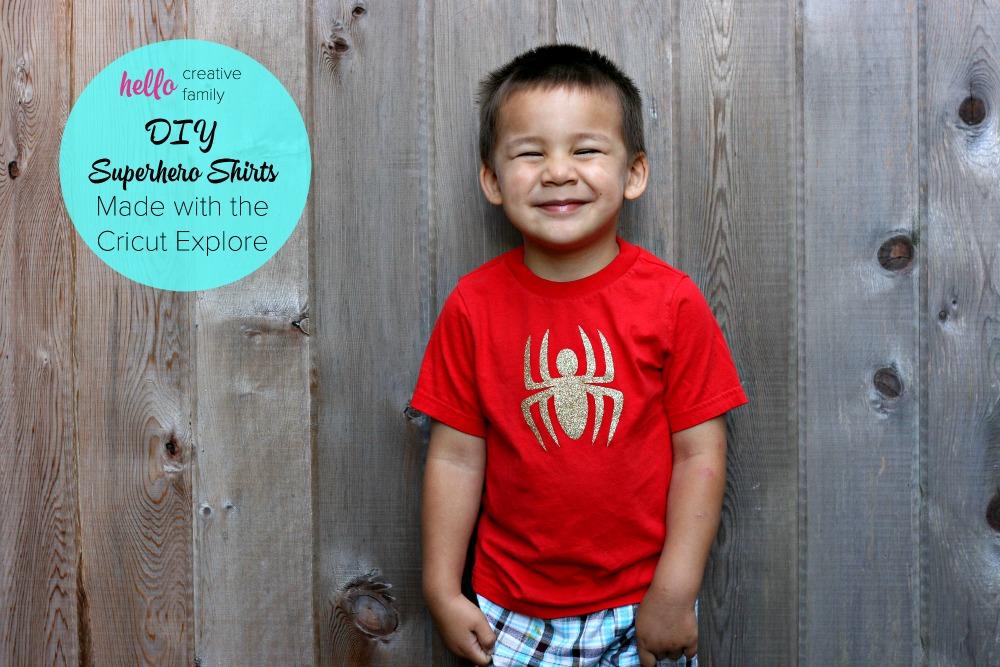 DIY Superhero Shirts Made with the Cricut Explore