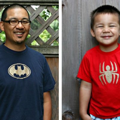 DIY Superhero Shirts Made with the Cricut Explore