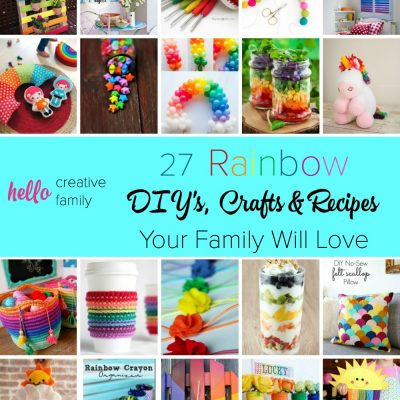 27 Rainbow Crafts, DIY Projects and Recipes Your Family Will Love
