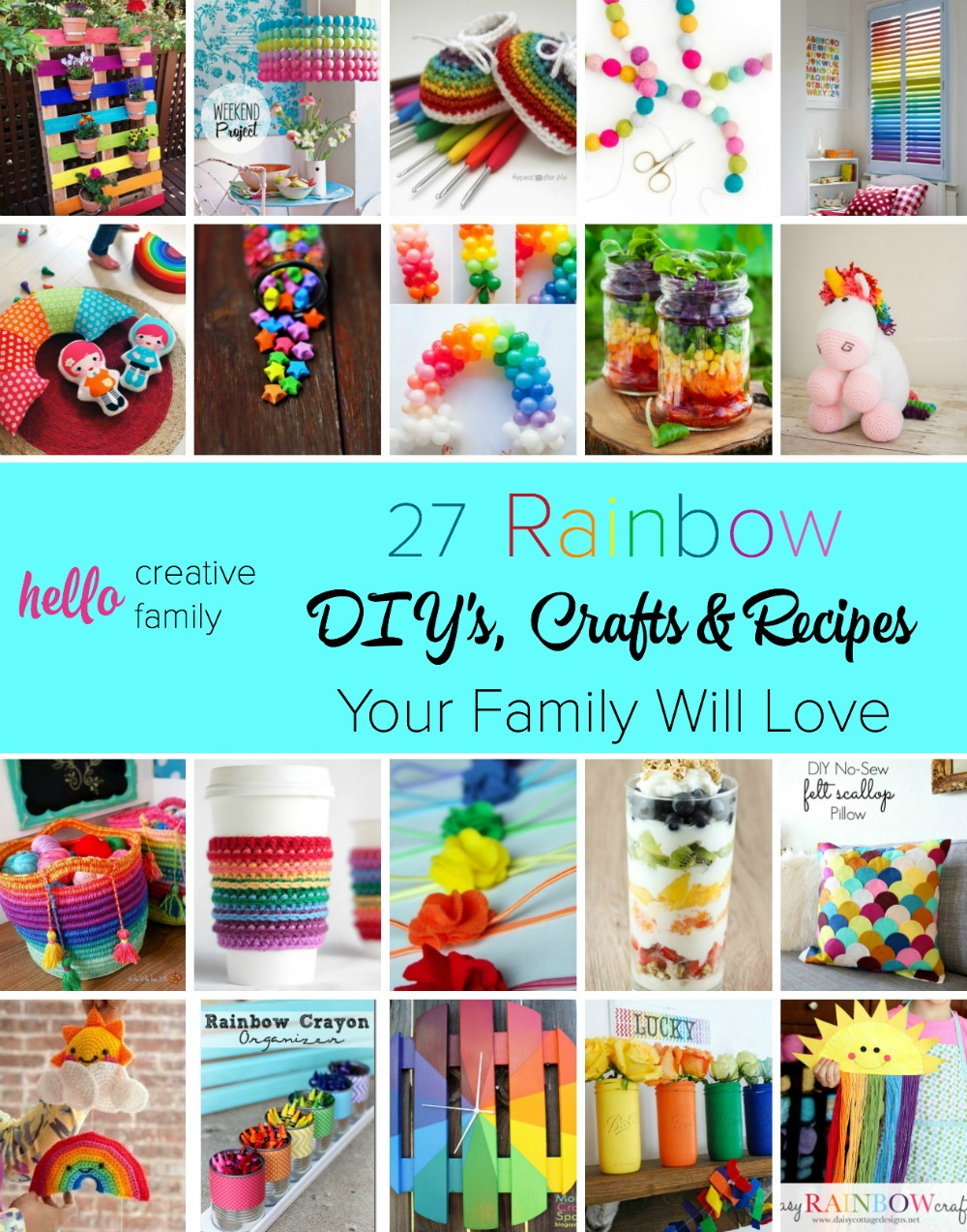 27 Rainbow Crafts Diy Projects And Recipes Your Family Will Love