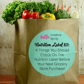 Curious about what you should be looking for on the nutrition label when buying packaged foods? Check out this great Nutrition Label 101 for 4 things you should look for before buying something from the grocery store!