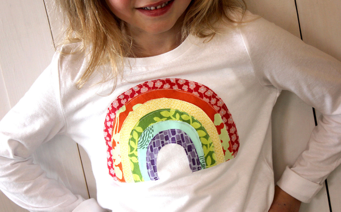 Rainbow Applique Shirt from Alice and Lois