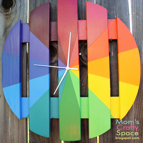 Rainbow Clock from Happiness Is Homemade