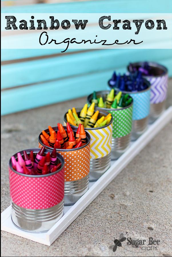 Rainbow Crayon Organizer from Sugar Bee Crafts