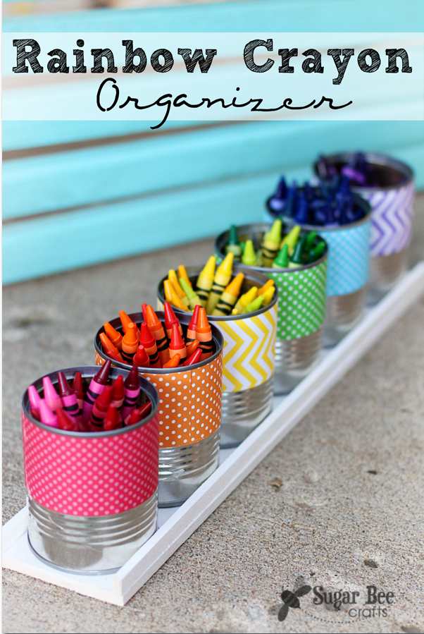 Rainbow Crayon Organizer from Sugar Bee Crafts