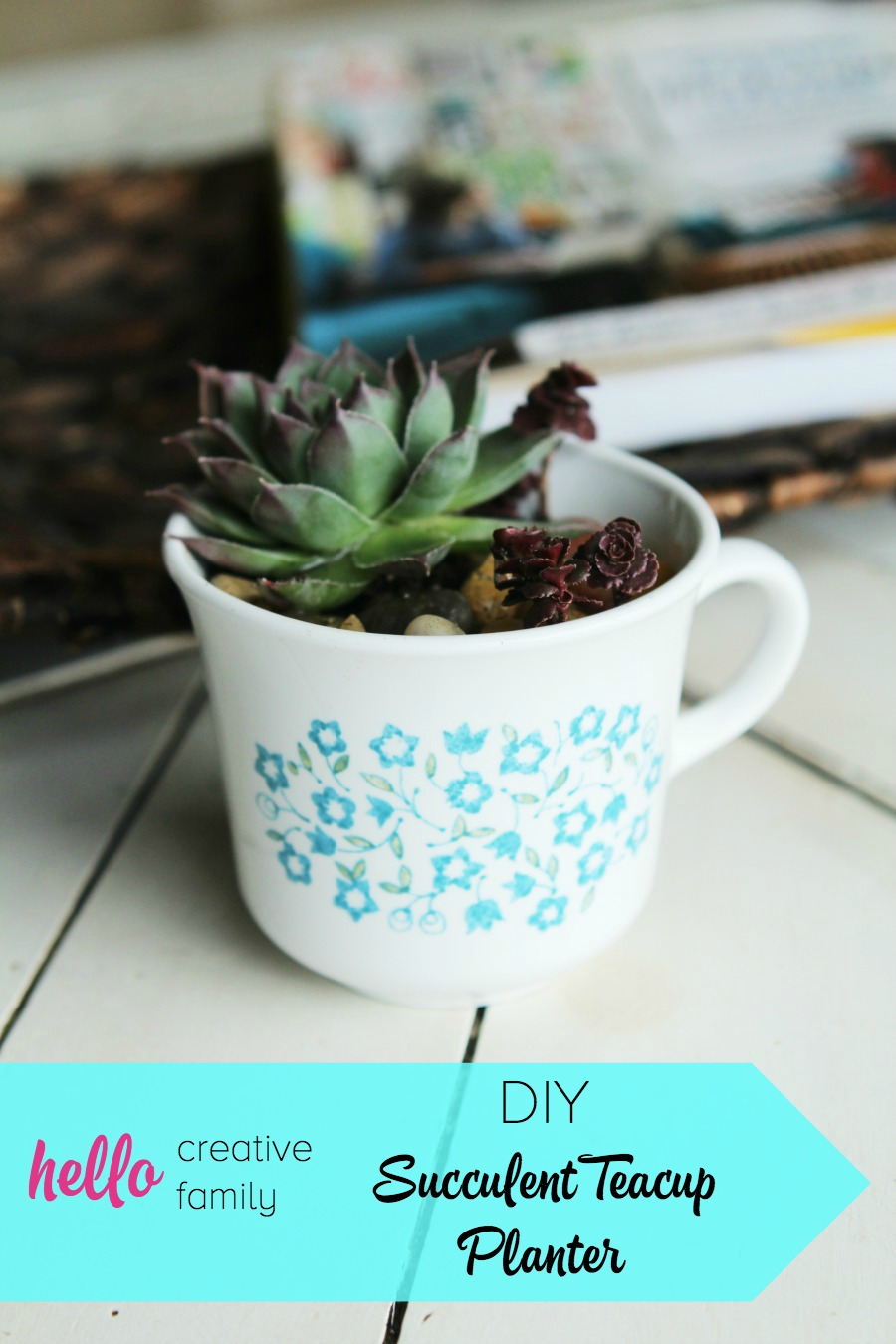 Have a black thumb? Turn your black thumb to green with succulents! Seriously! These things are so easy to grow. Low maintenance plants that look pretty? Bonus! Check out this adorable DIY Succulent Teacup Planter. They are the perfect little handmade gift idea for Mother's Day, teacher's gifts, neighbor gifts, Valentine's gifts, party/shower favors and thank you gifts! #Succulents #gardening #handmadegifts #thrifting
