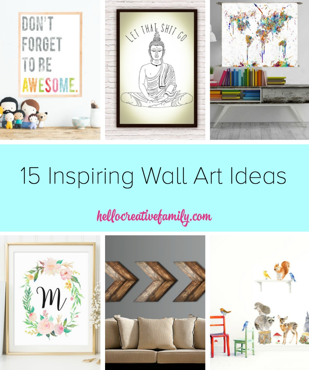 Fill your home with beautiful and inspiring images with these 15 Inspiring Wall Art Ideas from Hello Creative Family
