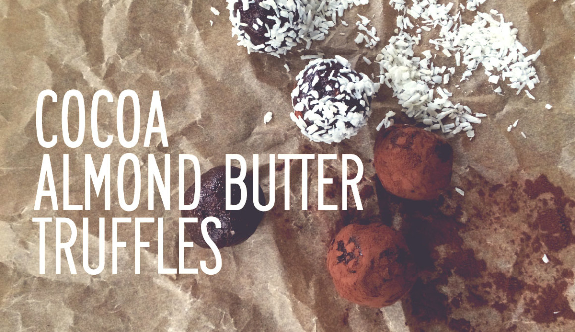 Paleo Cocoa Almond Butter Truffles (Can you say YUM?)