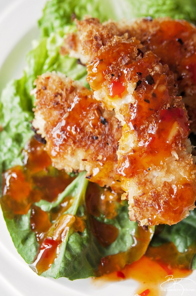 Delicious Coconut Crusted Chicken Recipe from The Bewitchin Kitchen! This recipe takes less than 30 minutes to make!