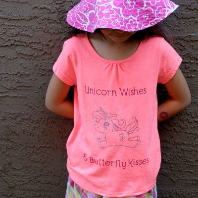 DIY Unicorn Shirt- Unicorn Wishes and Butterfly Kisses