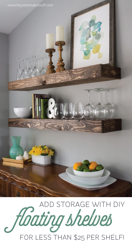 Floating Shelves from Hey Let's Make Stuff
