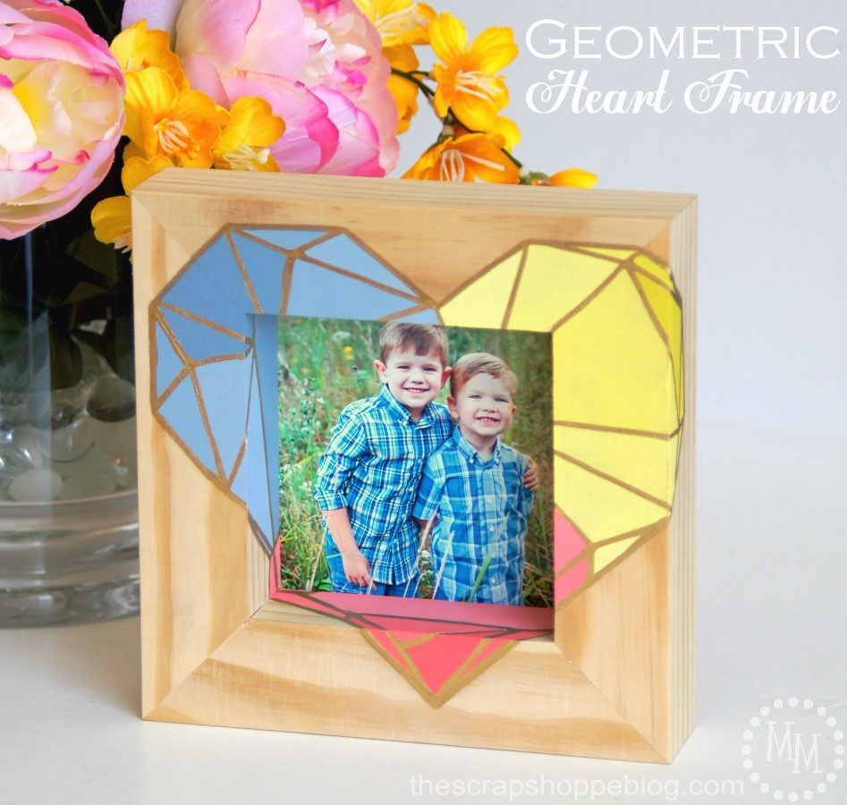 Geometric Heart Frame from The Scraps Shoppe Blog