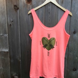 It's so much fun and easy making custom tshirts and tank tops on the Cricut Explore. This DIY Wild at Heart tank top is perfect for a summer day! Cut photo and step by step instructions included in this great tutorial.