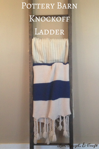 Pottery Barn Knockoff Ladder from Live Laugh and Craft