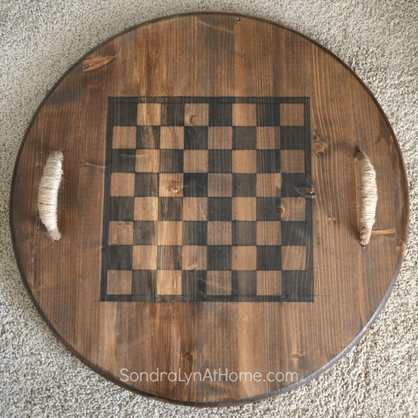 Reversible Checkerboard Wooden Tray from Sondra Lyn at Home