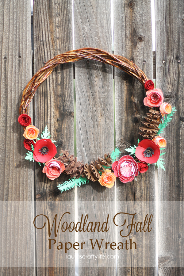 Woodland Fall Paper Wreath from Lauras Crafty Life