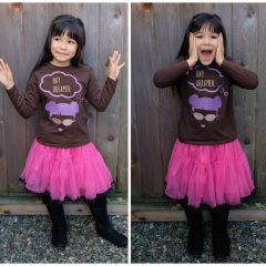 DIY Day Dreamer Shirt With Purple and Gold Glitter