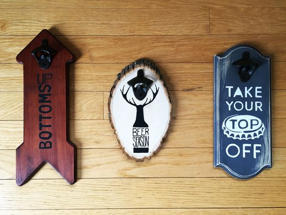 Beer Season Bottle Opener Signs from The Printable Project