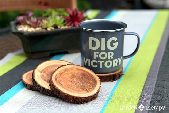DIY Branch Coasters from Garden Therapy