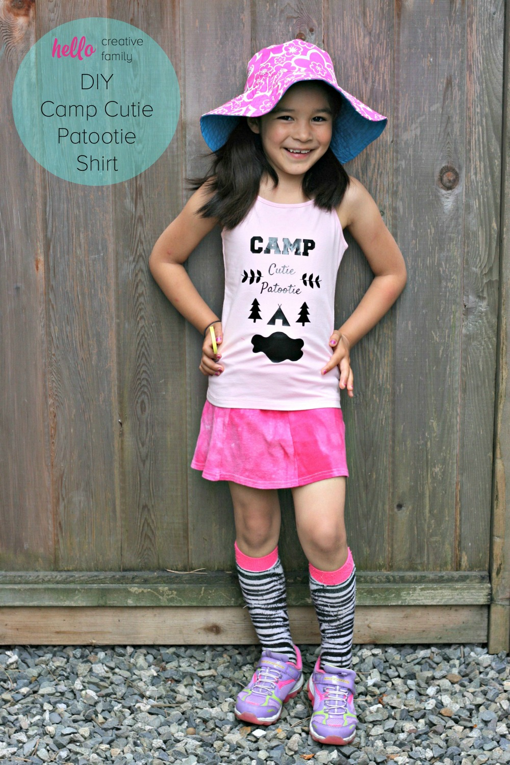 Send your little camper off to summer camp in style with a DIY Camp Cutie Patootie tank top or tshirt. Cut file included so you can make this project on the Cricut Explore.Send your little camper off to summer camp in style with a DIY Camp Cutie Patootie tank top or tshirt. Cut file included so you can make this project on the Cricut Explore.