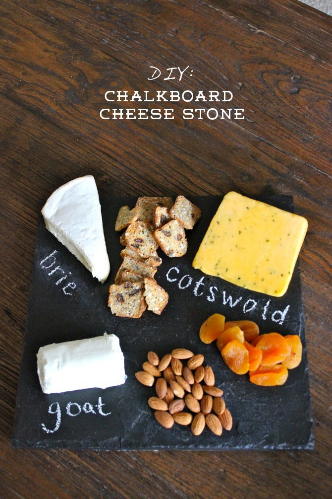 DIY Chalkboard Cheese Stone from Frankie Hearts Fashion