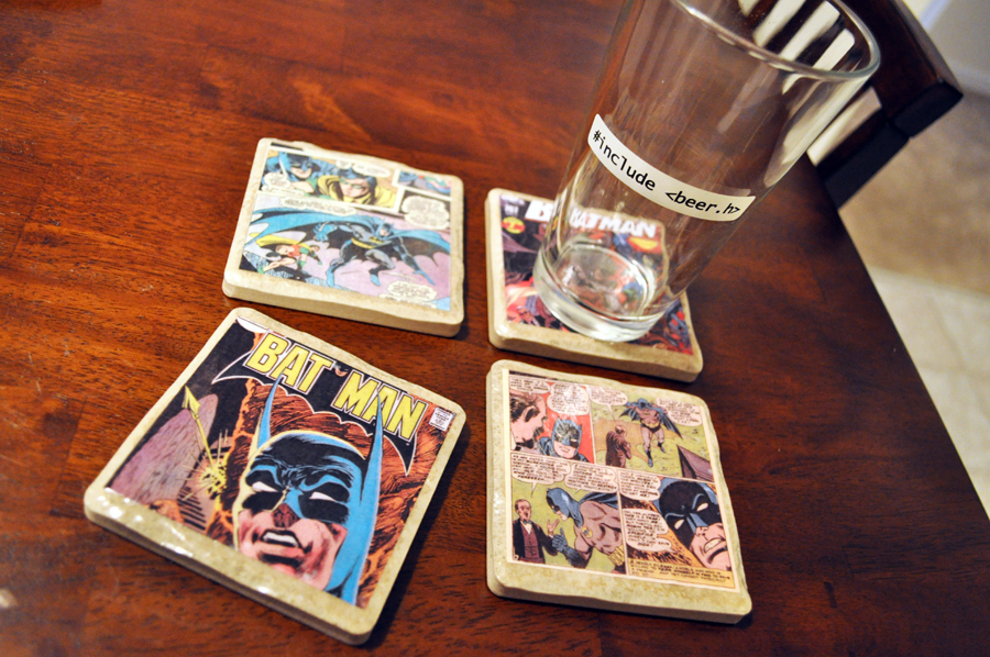 DIY Comic Book Coasters From The Pink Toque
