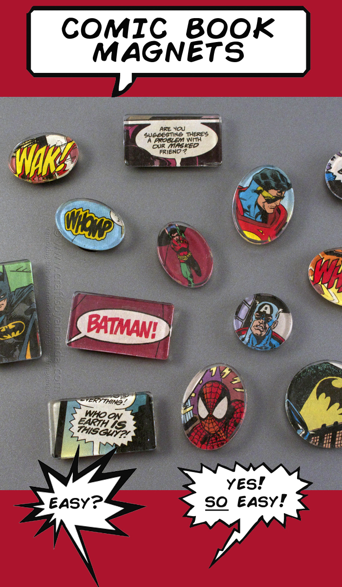 DIY Comic Book Magnets from Crafts By Amanda