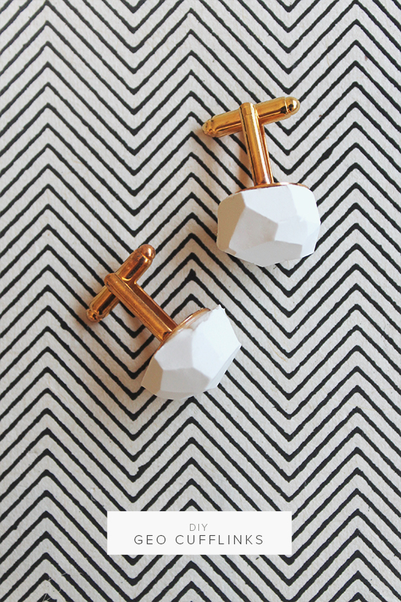 DIY Geo Cufflinks from Almost Makes Perfect