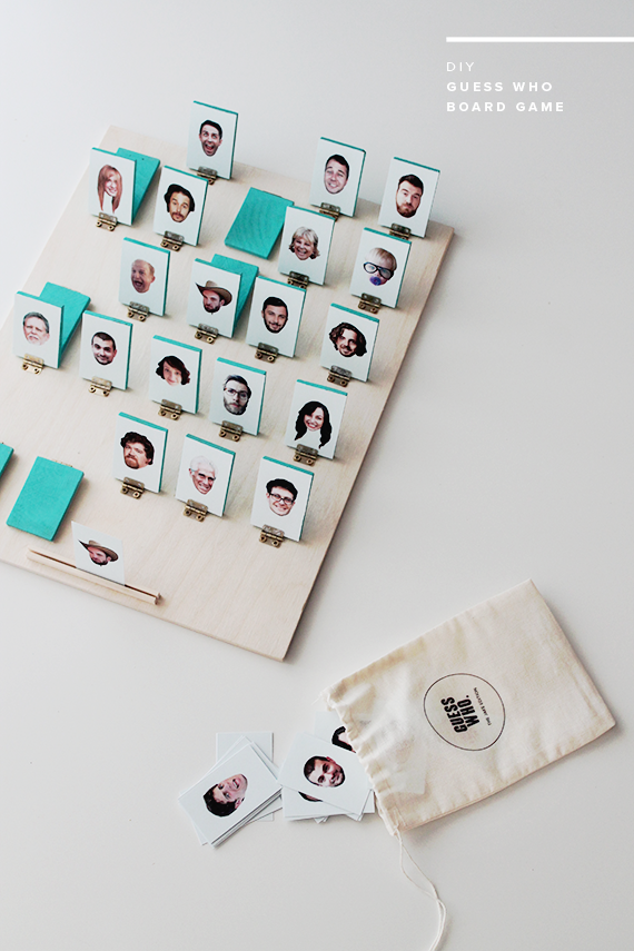 DIY Guess Who Board Game from Almost Makes Perfect