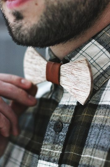 DIY Wooden Bow Tie from The Merry Thought