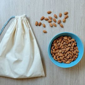 If you've ever wanted to make your own nut milk at home, you're going to want to read this post! Hello Creative Family shares recipes for homemade almond milk, coconut milk and hemp seed milk along with step by step instructions (with photos) for how to sew your own DIY Nut Milk Bag. A fabulous 15 minute sewing project that's easy and perfect for beginners. Use a different fabric for a drawstring bag or fabric gift bag!
